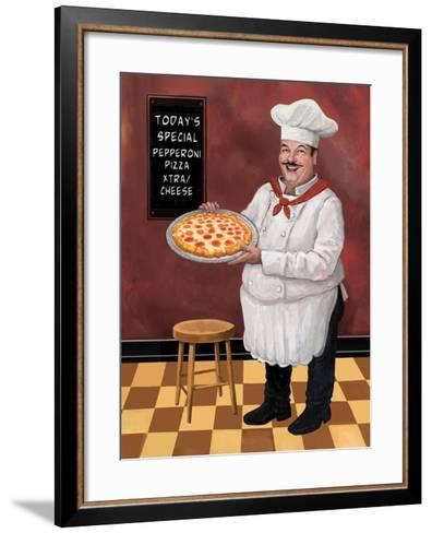Pizza Chef Master-Frank Harris-Framed Art Print