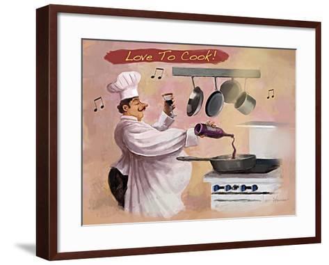Chef Wine-Frank Harris-Framed Art Print