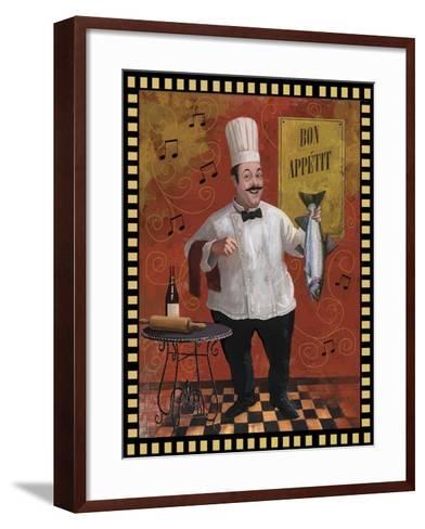 Chef Fish Master Design-Frank Harris-Framed Art Print