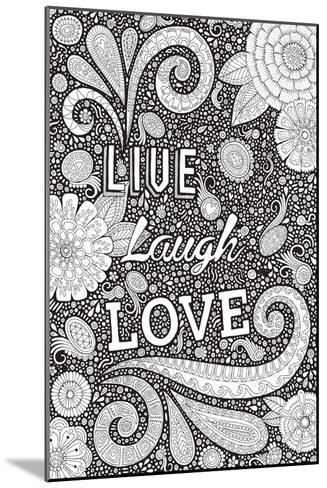 Live Laugh Love Black-Hello Angel-Mounted Giclee Print