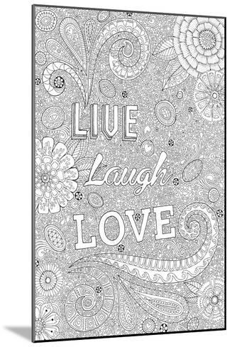 Live Laugh Love-Hello Angel-Mounted Giclee Print
