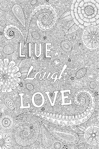 Live Laugh Love-Hello Angel-Stretched Canvas Print
