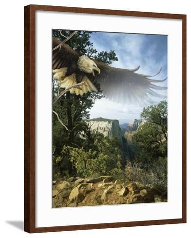 Above the Rim-Gordon Semmens-Framed Art Print