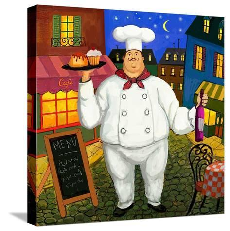 Pastry Chef Master-Frank Harris-Stretched Canvas Print