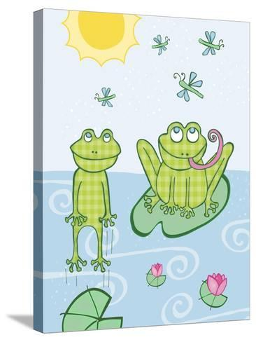 Frogs-Esther Loopstra-Stretched Canvas Print