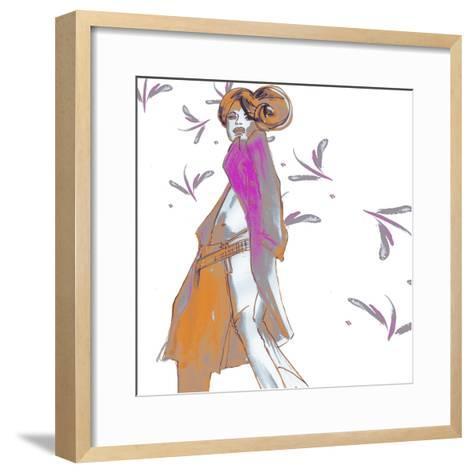 Cat Walk Chic-FS Studio-Framed Art Print