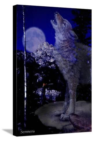 Blue Moon-Gordon Semmens-Stretched Canvas Print