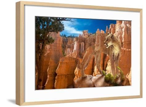 Hidden Canyon-2-Gordon Semmens-Framed Art Print
