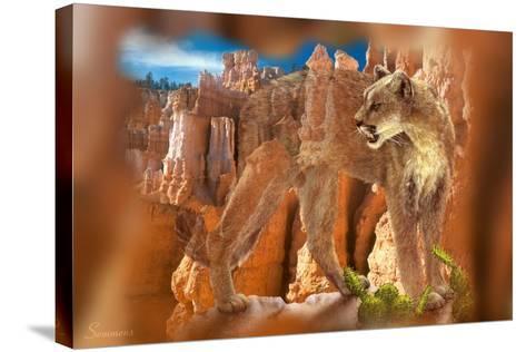 Hidden Canyon-7-Gordon Semmens-Stretched Canvas Print