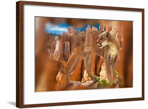 Hidden Canyon-7-Gordon Semmens-Framed Art Print