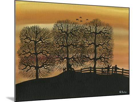 Silhouetted on the Hill-Gordon Barker-Mounted Giclee Print