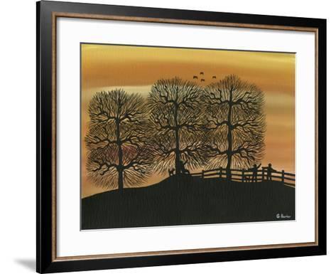 Silhouetted on the Hill-Gordon Barker-Framed Art Print