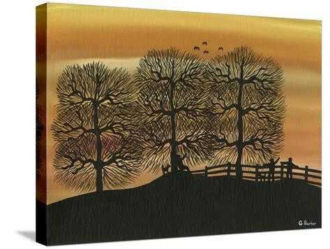 Silhouetted on the Hill-Gordon Barker-Stretched Canvas Print