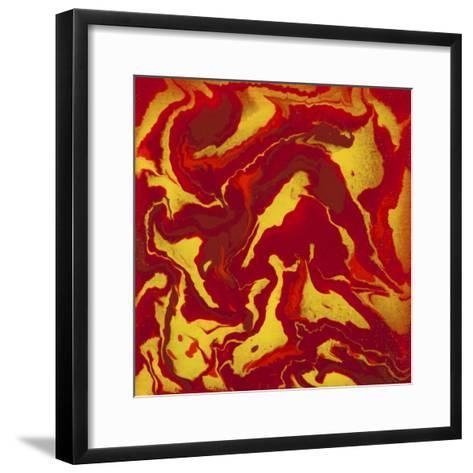 Liquid Industrial IIII - Canvas VIII-Hilary Winfield-Framed Art Print
