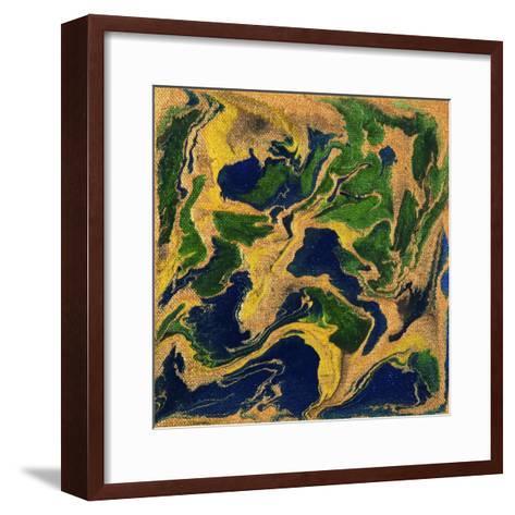 Liquid Industrial IIII - Canvas V-Hilary Winfield-Framed Art Print