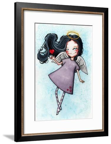 Angel of Love-Helena Reis-Framed Art Print