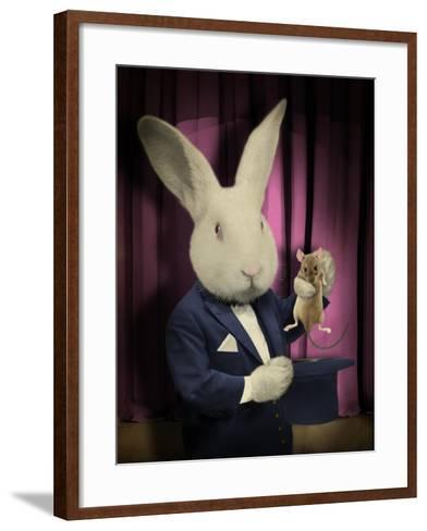 Rabbit Magician-J Hovenstine Studios-Framed Art Print