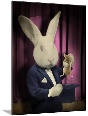 Rabbit Magician-J Hovenstine Studios-Mounted Giclee Print