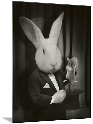Rabbit Magician BW-J Hovenstine Studios-Mounted Giclee Print