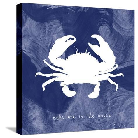 Crab-Erin Clark-Stretched Canvas Print