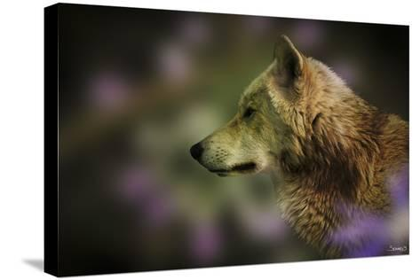 Wolf Profile HL2-Gordon Semmens-Stretched Canvas Print