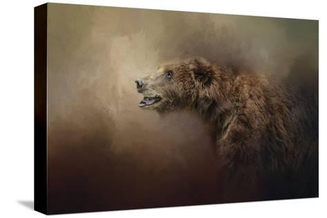 Morning Grizzly-Jai Johnson-Stretched Canvas Print