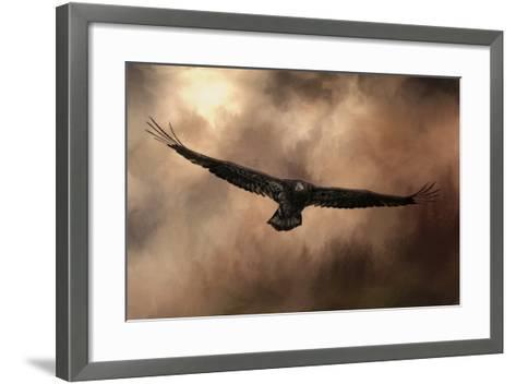 Juvenile Bald Eagle in the Sepia Sky-Jai Johnson-Framed Art Print