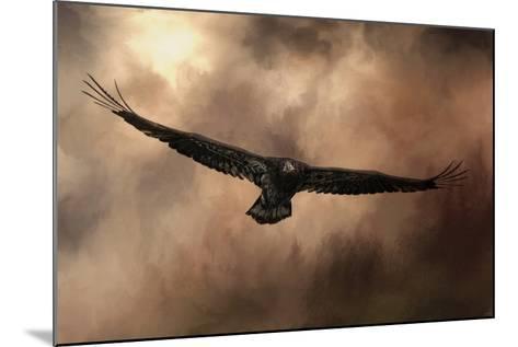 Juvenile Bald Eagle in the Sepia Sky-Jai Johnson-Mounted Giclee Print