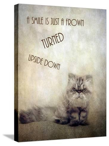 A Smile is Just a Frown-Jessica Jenney-Stretched Canvas Print