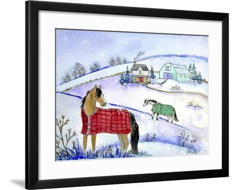 Horse Blanket-Jennifer Zsolt-Framed Art Print