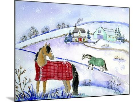 Horse Blanket-Jennifer Zsolt-Mounted Giclee Print
