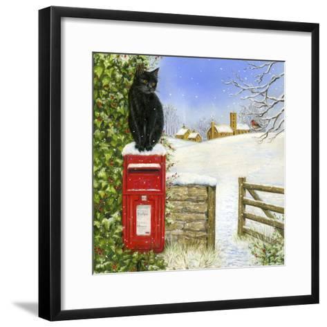 Christmas Post Box-Janet Pidoux-Framed Art Print