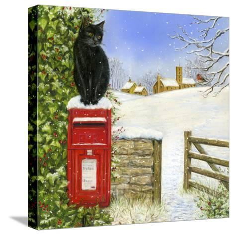 Christmas Post Box-Janet Pidoux-Stretched Canvas Print