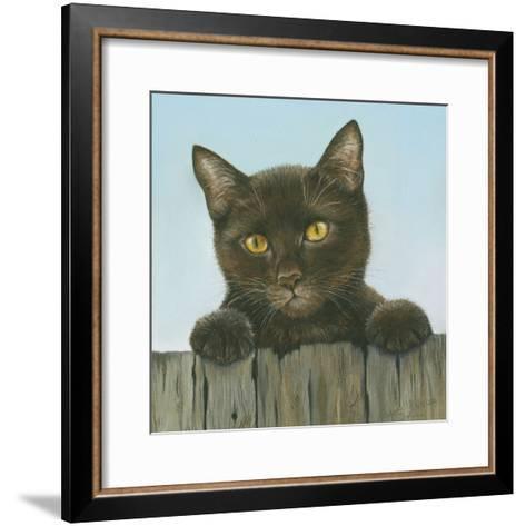 Black Kitten-Janet Pidoux-Framed Art Print