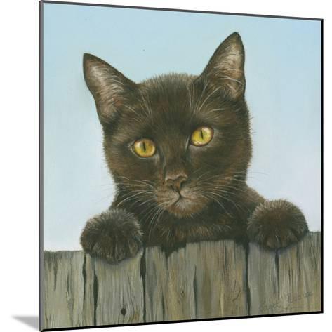 Black Kitten-Janet Pidoux-Mounted Giclee Print