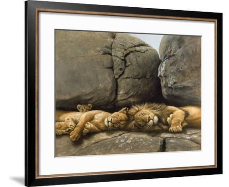 Two Lions Head to Head-Harro Maass-Framed Art Print