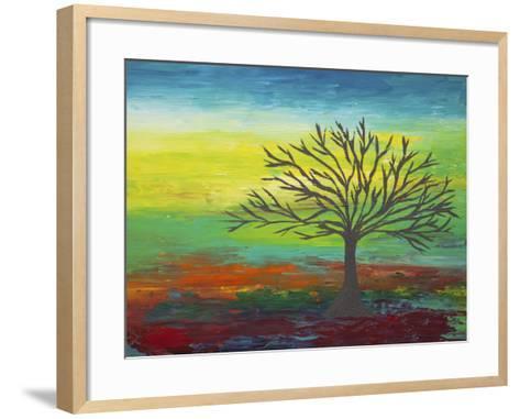 Abstract Tree 3-Hilary Winfield-Framed Art Print