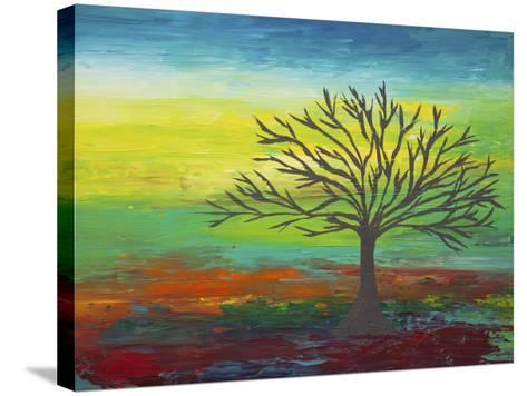 Abstract Tree 3-Hilary Winfield-Stretched Canvas Print
