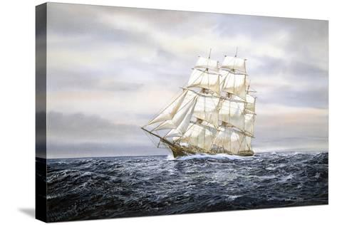 Clipper Ship-Jack Wemp-Stretched Canvas Print
