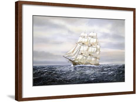 Clipper Ship-Jack Wemp-Framed Art Print