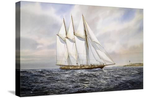 "Schooner ""Atlantic""-Jack Wemp-Stretched Canvas Print"