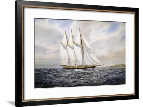 """Schooner """"Atlantic""""-Jack Wemp-Framed Art Print"""