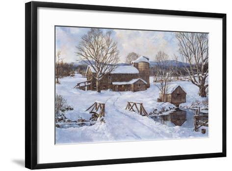 Spring House by the Bridge-Jack Wemp-Framed Art Print
