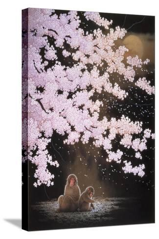Falling Cherry Blossoms-Joh Naito-Stretched Canvas Print