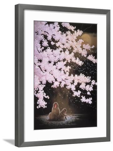 Falling Cherry Blossoms-Joh Naito-Framed Art Print