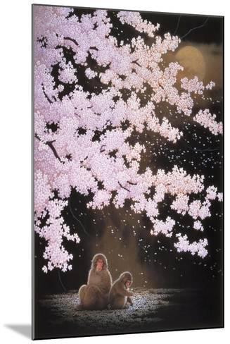 Falling Cherry Blossoms-Joh Naito-Mounted Giclee Print