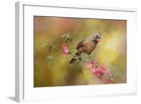 Spring Cardinal 1-Jai Johnson-Framed Art Print