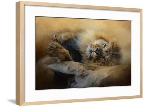 Lion Love 2-Jai Johnson-Framed Art Print