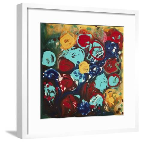 Abstract Flowers 3 - Canvas 3-Hilary Winfield-Framed Art Print