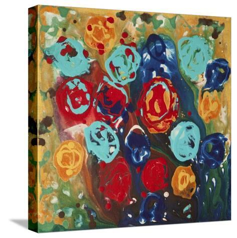 Abstract Flowers 3 - Canvas 1-Hilary Winfield-Stretched Canvas Print